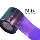 BROKEN GLASS NAIL FOIL 18 Colors NAILS EFFECT Stickers Shattered Angel Paper UK
