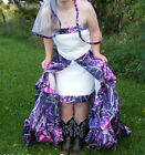 2 Piece Muddy Camo Prom Dress Strapless Removable Skirt Formal Party Gown Custom