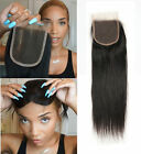 """Hair Parting Top Lace Closure Brazilian Remy 8A Human Hair Swiss Lace 4""""x4"""""""