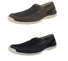 Mens Grey/Navy Light Weight Clarks Cloud Steppers Canvas Shoes Marcus Step