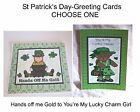 """""""ST PATRICK'S DAY""""- 5x7 Glittered Greeting Card - Choose One"""