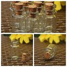 0.5/1/2/5ML Mini Small Cork Stopper Glass Vial Jars Containers Bottle Wholesale