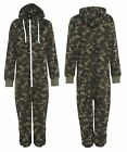 Mens Womens Military Camo Flague Unisex Printed Playsuit Jumpsuit Army Onesi