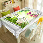 Bamboo Goldfish 3D Tablecloth Table cover Cloth Rectangle Wedding Party Banquet