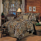 Realtree All Purpose Camo Comforter Set Bed in a Bag With Curtains