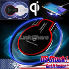 Clear Qi Wireless Fast Charger Charging Pad for Samsung Galaxy S8 S8+ S7 Edge S6