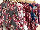 COTTON FLORAL  Bridesmaid gowns bride robe wedding party bridal, pregnancy