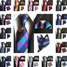 Vintage Mens Silk Tie Pocket Square Set Flower Party Handkerchief Neck Ties