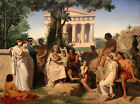 Homer of 1841 by Jean-Baptiste Auguste Leloir (Neoclassic French art print)