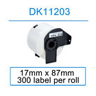 Compatible Roll Labels for Brother DK-11203 17mm x 87mm 300 label per roll