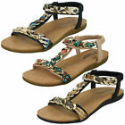 Ladies Nude/Navy/Black Savannah Collection Chain Sandals UK Sizes 3 - 8 F00063