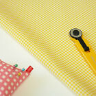 By the 1/2yd or 1yd, Yellow Gingham Check 100% Quality Cotton Fabric Craft c-051