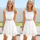 Fashion Summer Casual Sleeveless Party Evening Cocktail Lace Short Mini Dress