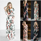 Women Evening Party Long Maxi Dress lady summer Floral Print Boho Dress casual
