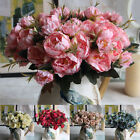 ❀Artificial Fake Silk Peony Flowers Home Floral Leaf Bouquet Wedding Party Decor