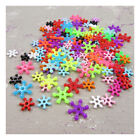 SNOWFLAKE SHAPED  LUMINOUS  ACRYLIC  BEADS *2 SIZES* BEADING CRAFTS JEWELLERY