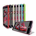 Aluminum Metal Frame Bumper PC Mirror Protect Case Cover 7 Colors For LG X Power
