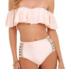 Ruffled SwimWear High Waist Bikini Set Fashion Swimming Suit Hot Summer 2 Pieces