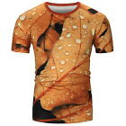 3D Leaf  and Water Drop Shirt Multicolor  New Shirt Men's Fashion Shirt HFCA