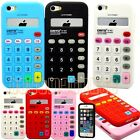 for iPhone 5 5s calculator design red pink blue white black soft case cover//