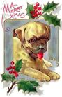 Christmas Bulldog & Holly Quilt Block Multi Sizes FrEE ShiPPinG WoRld WiDE