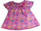 Girls Top T-Shirt Pink Floral NEW Short Sleeved Baby 2-3 Years Cotton