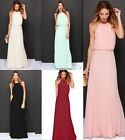 Ladies Formal Long Chiffon Tops Prom Evening Party Bridesmaid Wedding Maxi Dress