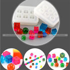 1Pc Rectangle Round Silicone Bead Mould Square Ball with Holes Jewelry Mold S3
