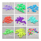 ROUND ACRYLIC BEADS *4 SIZES* *10 COLOURS* BEADING JEWELLERY  MAKING CRAFTS