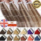 20/40pcs PU Seamless Tape in 100% Remy Human Hair Extensions Brazilian Weft UK
