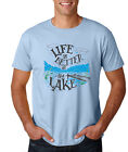 LIFE IS BETTER ON THE LAKE fishing camping hiking outdoors Father's Day T-Shirt