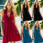 Women Summer Casual Sleeveless Evening Party Cocktail Beach Short Mini Dress Us