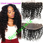 """Brazilian Deep Curly Real Human Hair 13x4"""" Ear to Ear Lace Frontal Closure 8~20"""""""