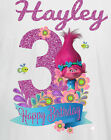 BIRTHDAY NUMBER AGE IRON ON T SHIRT TRANSFER POPPY TROLL FLOWERS