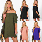 Women's Chiffon Short Sleeve Casual Basic Crew Neck Bodycon Mini T-Shirt Dress