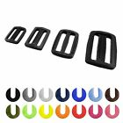 Plastic delrin 3 bar sliders tri glide buckles for webbing 20 25 30 35 40 50 mm