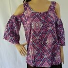 NEW Soft Rayon Addison Top Cold Shoulder Style Womens Size 12 14 16