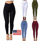 Us Women Pencil Casual Denim Skinny Jeans Pants High Waist Slim Strech Trousers