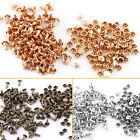 100pcs 6x8mm Double Cap Rivet Tubular Metal Leather Craft Repairs Studs Decor