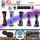 """UL 2272 8"""" Hoverboard Self Balancing 2 Wheel Electric Scooter LED Bluetooth +Bag"""