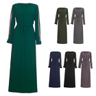 Womens Ladies Long Pattern Abaya Maxi Top Casual Belted  Outdoor Wear