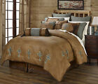 Turquoise Cross - Western - 5 Piece Comforter Bedding Set With Sheet Option!