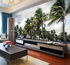 Windy Cloudy Palm Trees Full Wall Mural Photo Wallpaper Print Kids Home 3D Decal