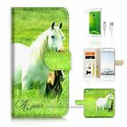 HTC X9 Wallet Case Cover AJ20202 White Horse