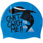 adidas Performance Graphic Cap Youth Kids headwear Silicone Swim Cap Rubber