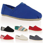 DD10 NEW WOMENS CANVAS LADIES CASUAL SLIP ON FLAT PLIMSOLL PUMPS SHOES SIZE 3-8