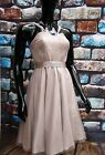 MONSOON LANA PROM NUDE TULLE DRESS RRP £190 Size 10