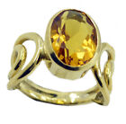 Citrine CZ Gold Plated enticing wholesales Ring K,M,O,Q UK