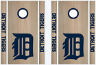 Detroit Tigers Cornhole Bean Bag Toss Vinyl Decal Set - 8pcs - Multiple Colors