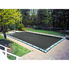 Heavy-Duty Black Mesh 12-Year Winter Cover for In-Ground Swimming Pools